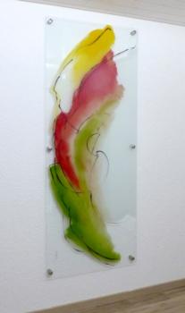Glasmalerei Sattler - Gemaltes Glasbild für die Wand, bei 600 Grad eingebrannt