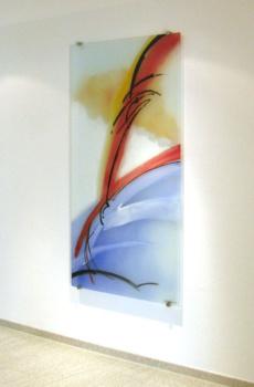 Glasmalerei Sattler - Gemalte Wandscheibe aus Glas