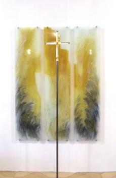 Klosterkirche der Franziskanerinnen in Dillingen, Entwurf: Sr. Nicole Oblinger, Ausführung: Glasmalerei Sattler