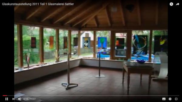 Glaskunst Ausstellung in der Glasmalerei Sattler, 2011, Film 1