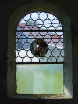 Glasmalerei Sattler - Restauration, das Fenster der Kapelle vor der Restauration