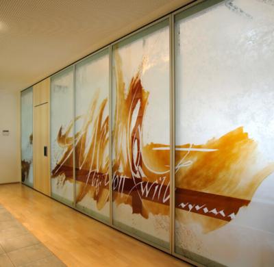 Kapelle Maria Ward, Augsburg, Entwurf: Anita Rist-Geiger, Ausführung: Glasmalerei Sattler