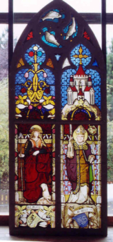Glasmalerei Sattler - Kirchenfenster nach der Restaurierung mit neu ergänzten Malerei Scheiben und Einpassungen
