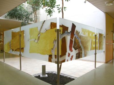 Glasmalerei Sattler - Sichtschutz für die AWO Gersthofen, Entwurf: Richard Haupt