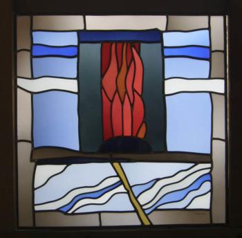 Bleiverglasung Kapelle Landau, Entwurf: Helmut Kästl, Ausführung: Glasmalerei Sattler